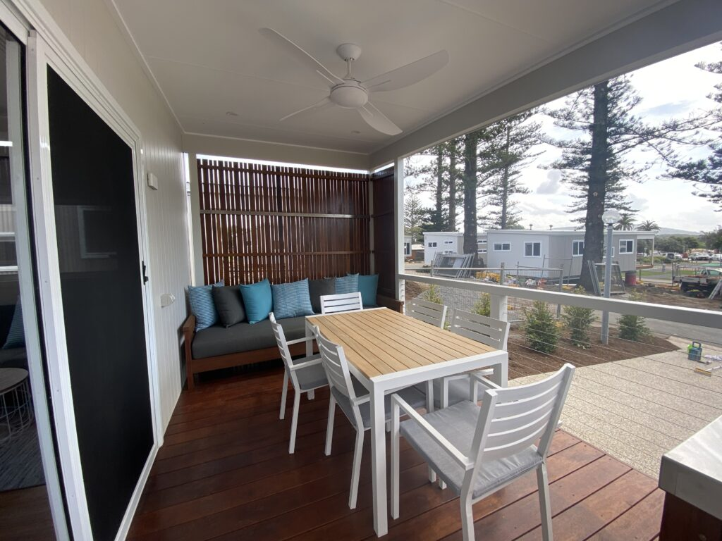 holiday cabin deck
