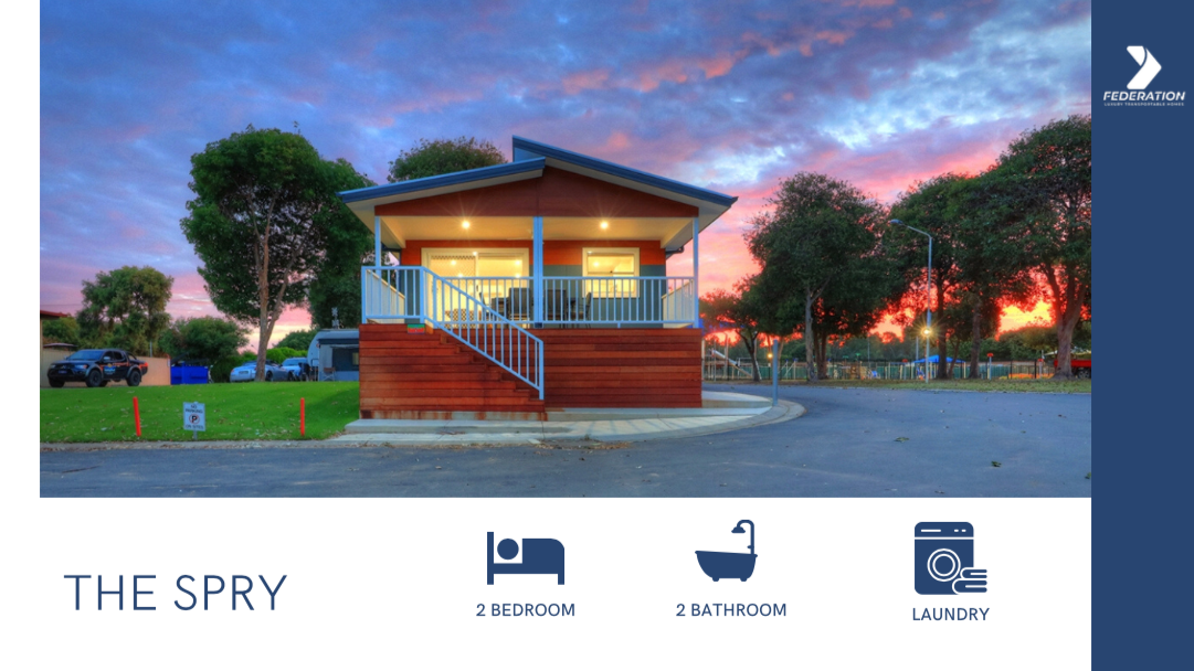 the spry 2 bedroom 2 bathroom transportable home or holiday cabin