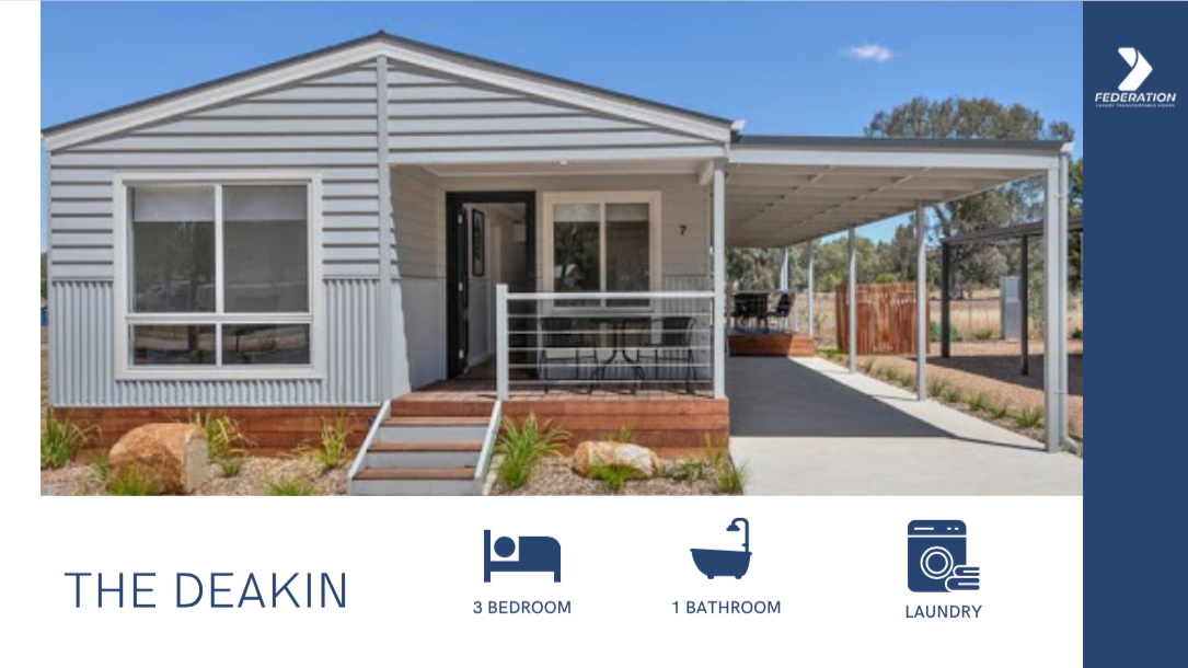the deakin 2 bedroom transportable lifestyle home